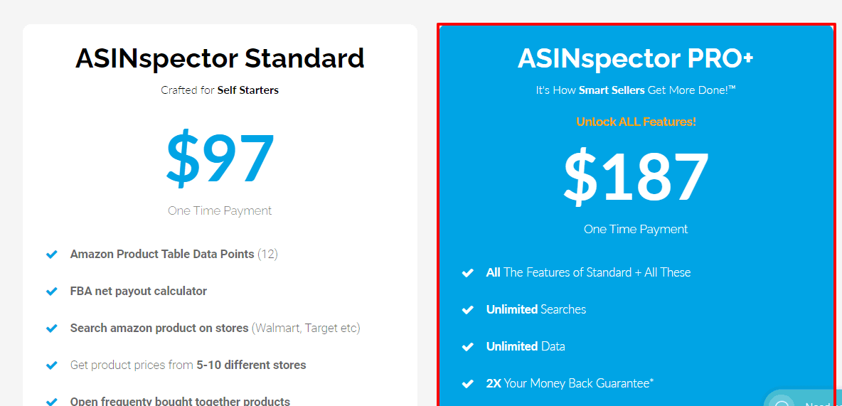 Asinpector Pricing- Best junglescout alternative