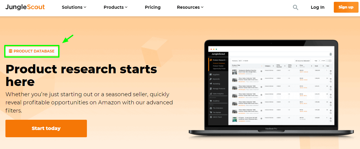 Product Database- JungleScout Product tracker