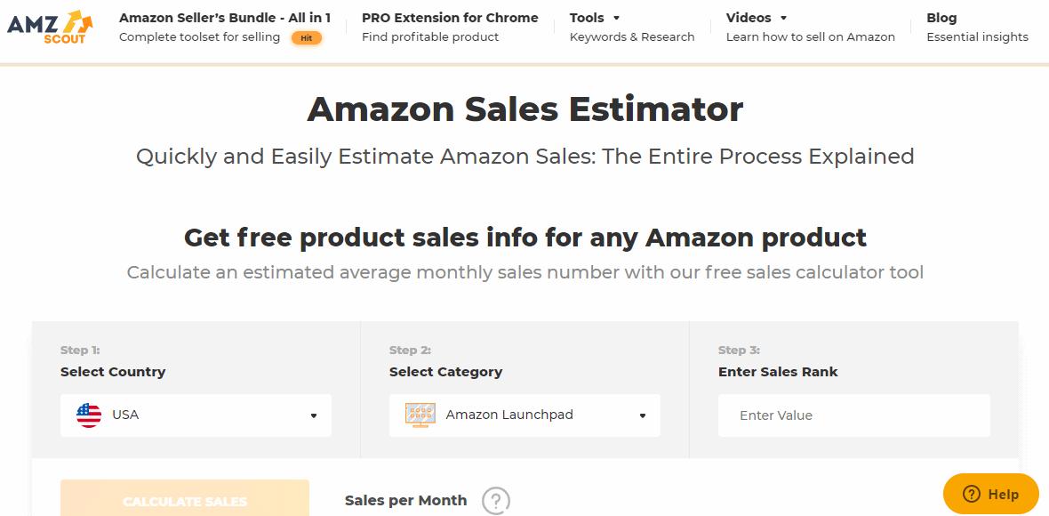 AmzScout Sales Estimater