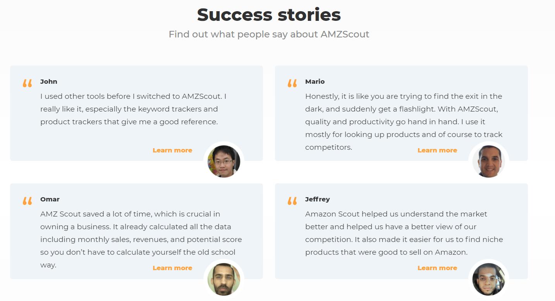 amzscout success stories